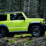 Exterior of Suzuki New Jimny 2018: Yellow - Sideview, Offroad