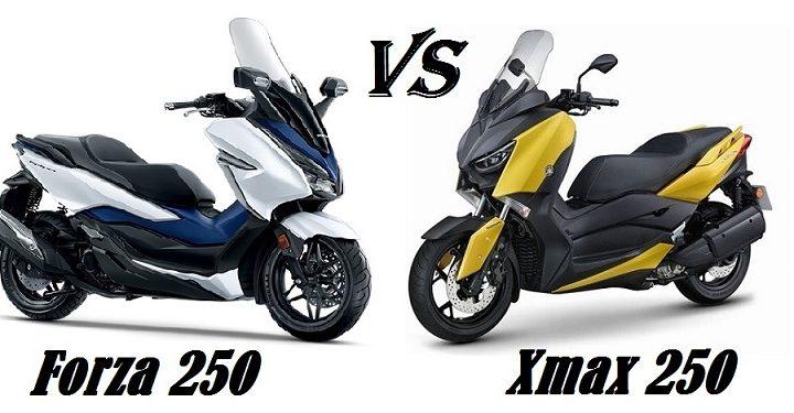 KOMPARASI HONDA FORZA 250 VS YAMAHA XMAX 250
