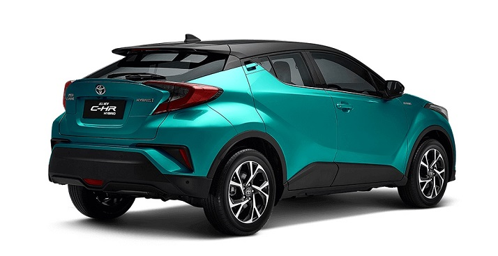 Toyota C-HR Hybrid: Sporty Rear Spoiler with Striking Taillights