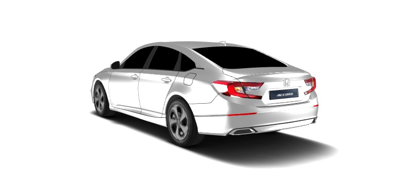 Honda Accord CV Exterior (3D Render)
